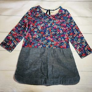 Baby GAP Floral Chambray Dress 3T